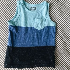 Other - Blue ColorBlock Tank Top